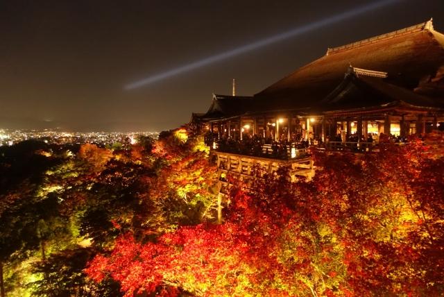 清水寺の紅葉ライトアップの混雑状況