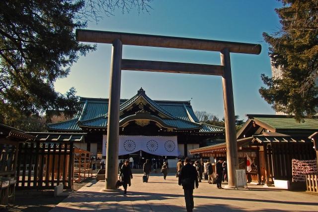靖国神社の初詣の混雑状況