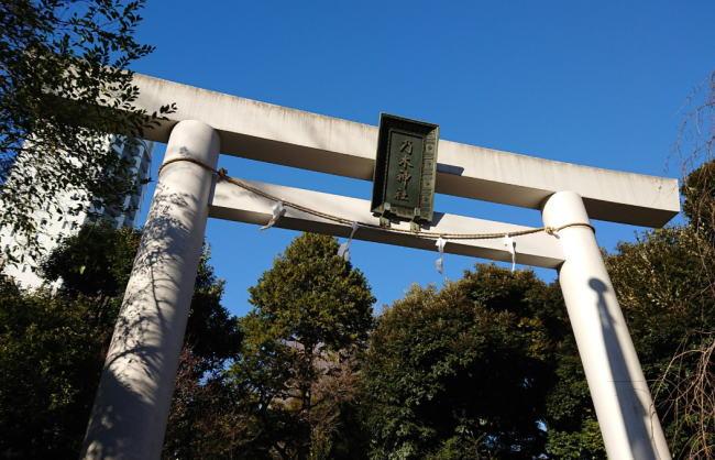 乃木神社の初詣の混雑状況