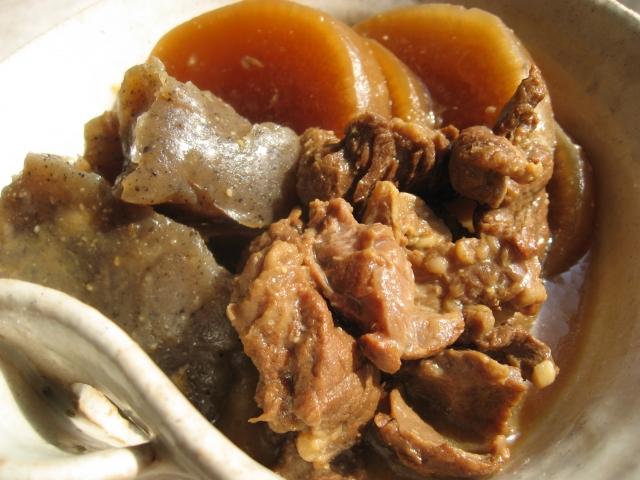 神田祭の出店のもつ煮