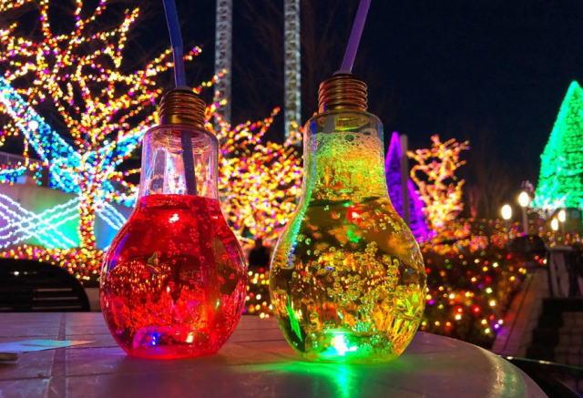 一宮七夕祭りの出店の電球ソーダ