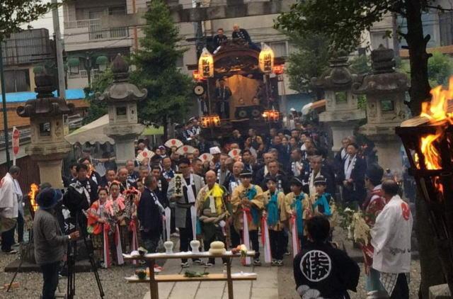 青梅大祭の宵宮祭り