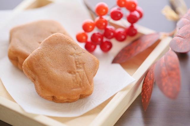 広島フラワーフェスティバルの出店のもみじ饅頭
