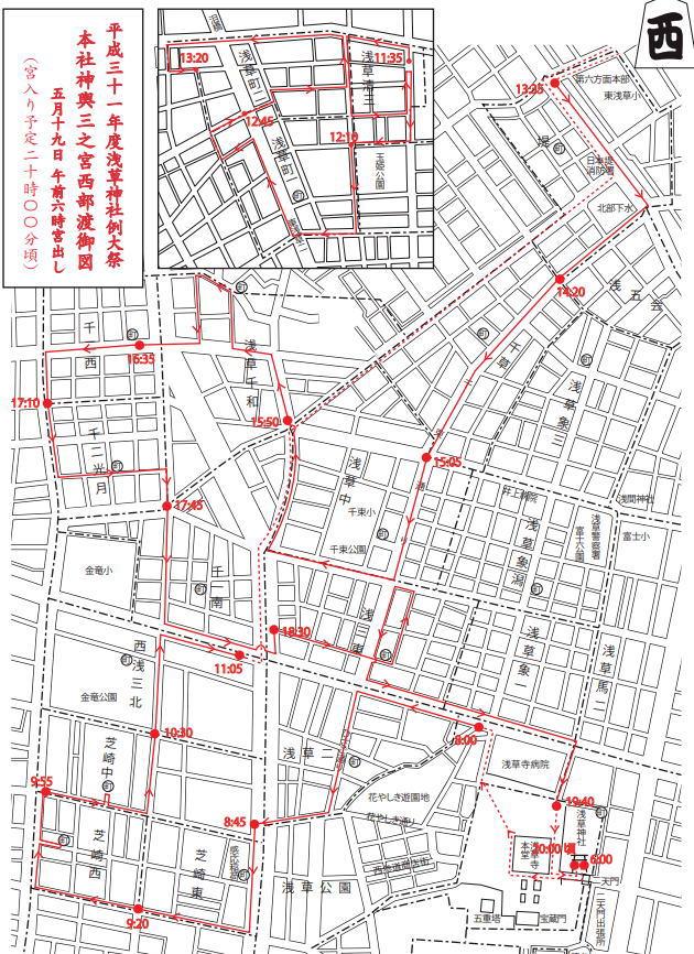 三之宮神輿のルート