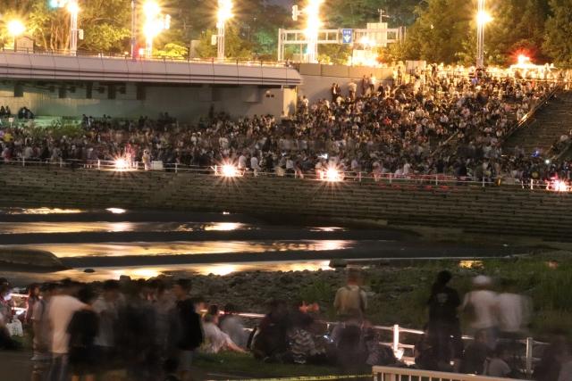 越谷花火大会の混雑、渋滞状況