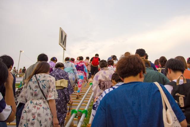 江戸川区花火大会2019の混雑や交通規制、通行止め情報と場所取りは何時から?