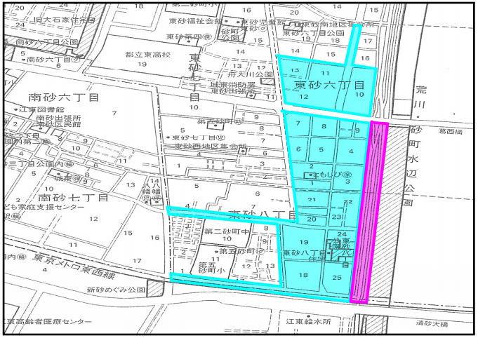 江東花火大会の交通規制図