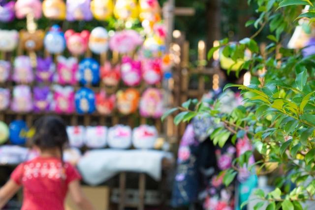 猪名川花火大会の出店のお面