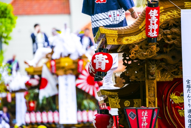 岸和田だんじり祭り2019はいつ?日程や芸能人情報と屋台の出店場所、見どころ紹介